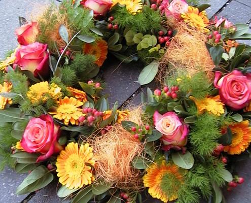 Trauerflorostik, Sargbuquet, mobiler Blumenservice München Blume & Beiwerk