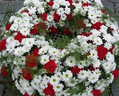 Trauerfloristik - Kranz - mobiler Blumenservice München Blume & Beiwerk